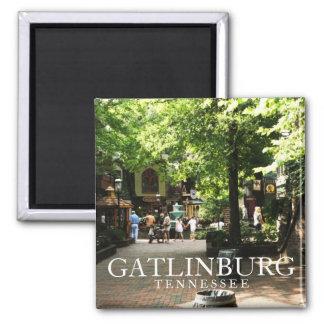 Quadrado da vila em Gatlinburg, lembrança de Tenne Ímã Quadrado