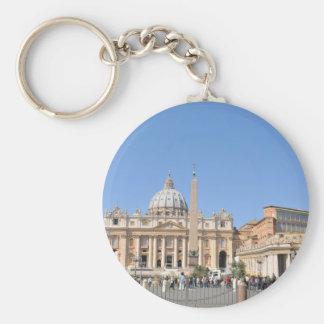 Quadrado de San Pietro no vaticano, Roma, Italia Chaveiro