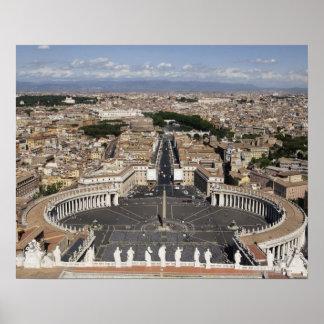 Quadrado de St Peters, Roma Poster