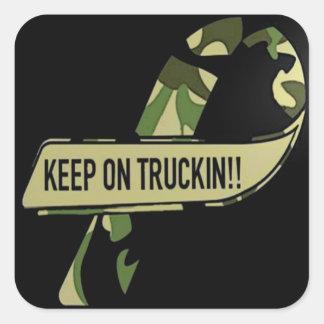 Quadrado de transporte por caminhão das etiquetas adesivo