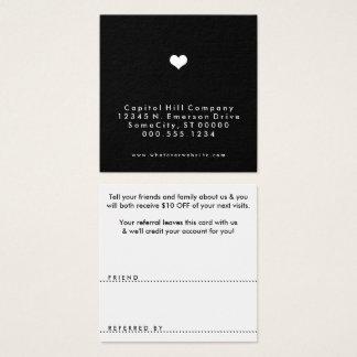 quadrado do coração da referência cartão de visitas quadrado