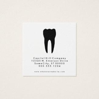 quadrado do dentista da referência cartão de visitas quadrado
