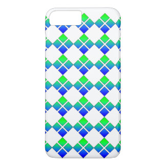 Quadrado do diamante 4 do verde azul capa iPhone 7 plus