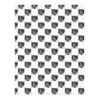 Quadrado dos símbolos de música do piano papeis de carta personalizados