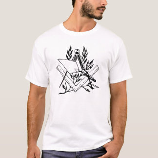 Quadrado e compasso com Trowel Camiseta