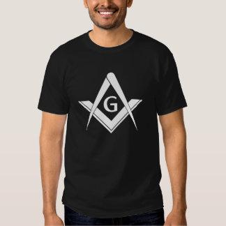 Quadrado e compasso modernos t-shirts
