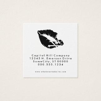 quadrado mortal do beijo da referência cartão de visitas quadrado