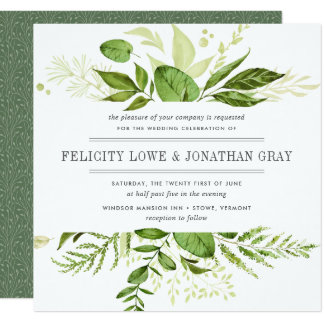 Quadrado selvagem do convite | do casamento do convite quadrado 13.35 x 13.35cm