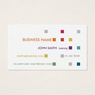Quadrados brilhantes do cartão de visita do