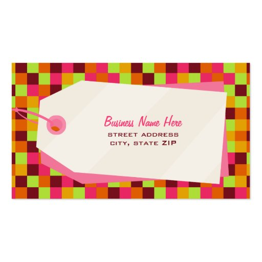 Quadrados & cartão de negócio de retalho do Tag da Modelos Cartao De Visita
