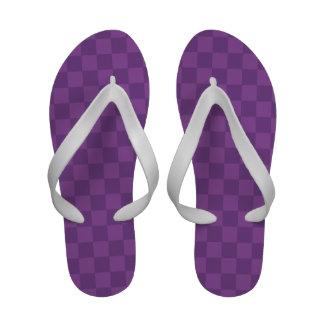 Quadrados Checkered roxos violetas malva e escuros Chinelo