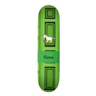 Quadrados conhecidos personalizados do verde do fu skate