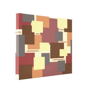 Quadrados Cópia esticada das canvas Impressão De Canvas Envolvidas