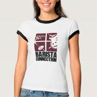 Quadrados da conexão de Barista T-shirt
