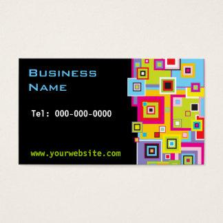 Quadrados da cor no cartão de visita preto