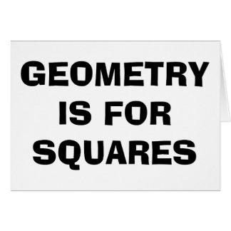 Quadrados da geometria cartão comemorativo