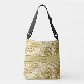 Quadrados elegantes da folha de ouro bolsas carteiro