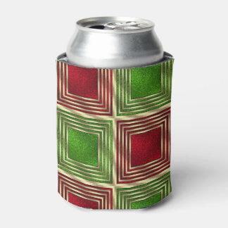 Quadrados festivos brilhantes porta-lata