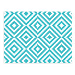 Quadrados geométricos abstratos teste padrão, bran cartões postais