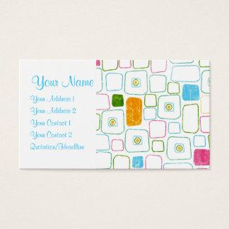 Quadrados - personalizados cartão de visitas