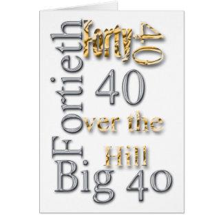 quadragésima 40th celebração da reunião do partido cartão comemorativo