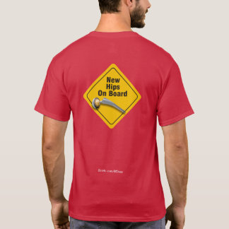 """""""Quadris novos a bordo"""" do t-shirt anca dobro da Camiseta"""
