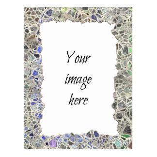 Quadro azul do mosaico cartoes postais