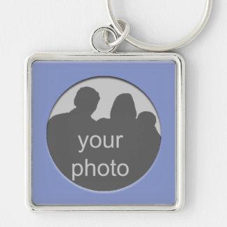 Quadro azul seu chaveiro do prêmio da foto