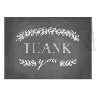 Quadro branco dos cartões de agradecimentos do