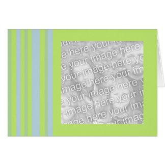 quadro cinzento amarelo da foto das listras azuis cartão comemorativo