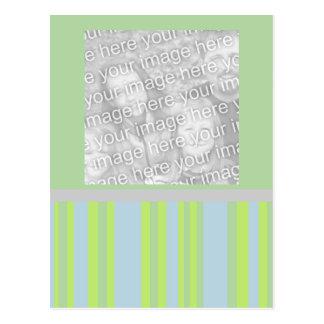 quadro cinzento amarelo da foto das listras azuis cartoes postais