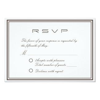 Quadro clássico simples que Wedding o cartão de Convite 8.89 X 12.7cm