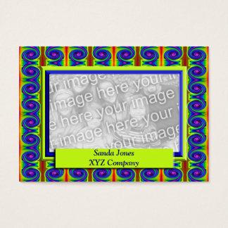 Quadro colorido da foto das ondas cartão de visitas
