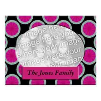 quadro cor-de-rosa e preto da foto do círculo cartão postal
