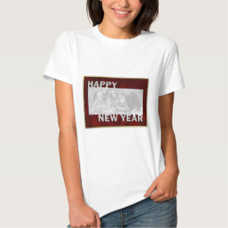 Quadro cortado da foto do ano novo tshirt