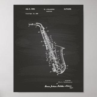 Quadro da arte da patente do saxofone 1949 pôster