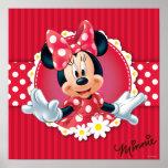 Quadro da flor de Minnie Impressão