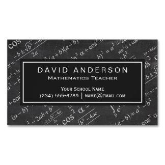 Quadro da fórmula da matemática do professor de