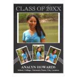 Quadro da foto da lembrança 4 da graduação convite personalizados