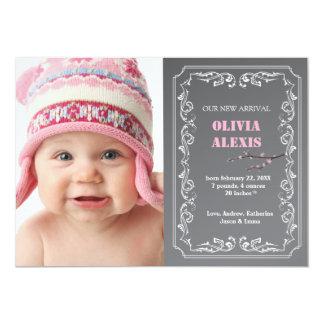 Quadro da foto do anúncio do nascimento
