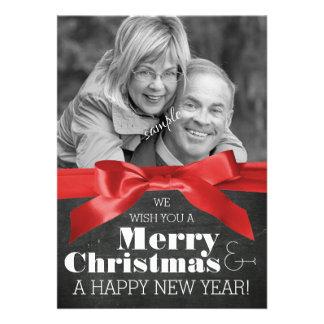 Quadro da foto do casal do feriado e Xmas da fita Convites Personalizado