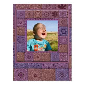 Quadro da foto do entusiasta dos retalhos cartão postal