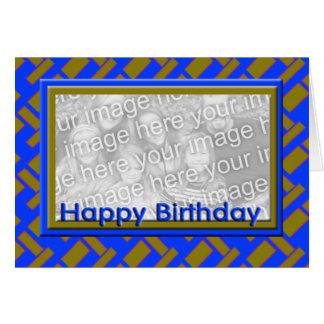 Quadro da foto do feliz aniversario cartões
