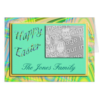 Quadro da foto do felz pascoa cartão comemorativo