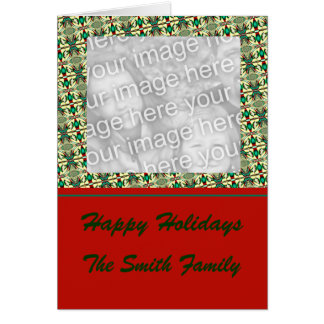 Quadro da foto do feriado cartão comemorativo