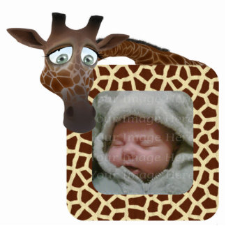 Quadro da foto do girafa foto escultura