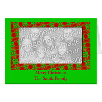Quadro da foto do Natal Cartão Comemorativo