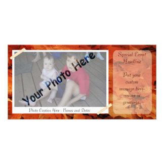 Quadro da foto do outono cartão com foto