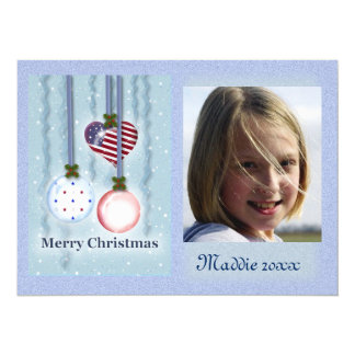 Quadro da foto dos enfeites de natal convite 13.97 x 19.05cm