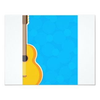 Quadro da guitarra convites personalizados
